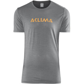 Aclima LightWool LOGO - T-shirt manches courtes Homme - gris